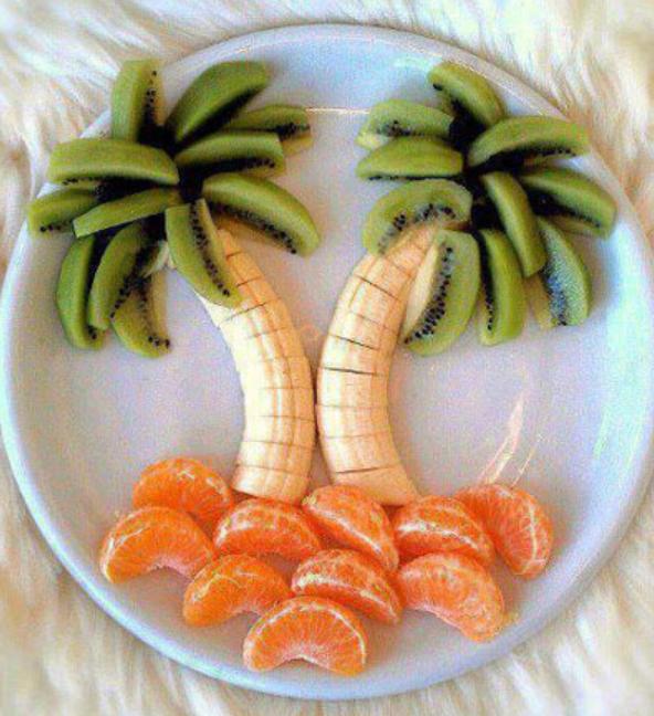 postre con fruta
