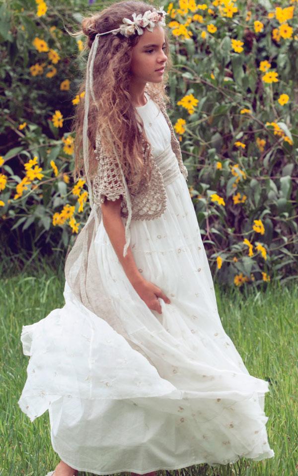 vestido comunion rubio