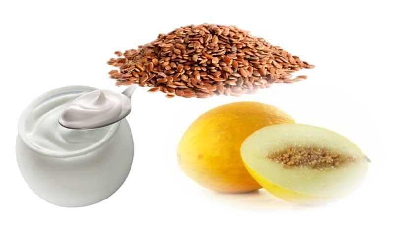 semillas-de-lino-con-yogur-y-melon